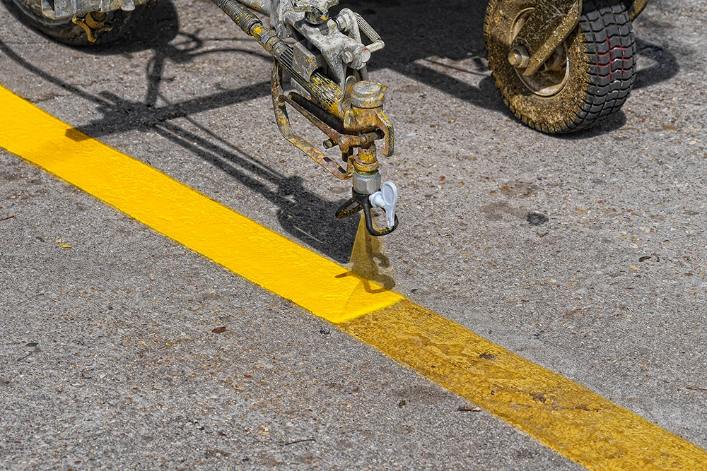 Parking Lot Line Striping Services - Power Sweeping Services