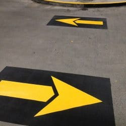 Directional Arrow Painting for Parking Garage