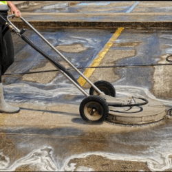 Power Washing Services on Parking Lot Pavement