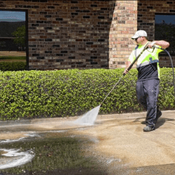 Power Washing Services in Parking Lot