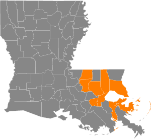Service Areas in Southeastern Louisiana - Power Sweeping Services